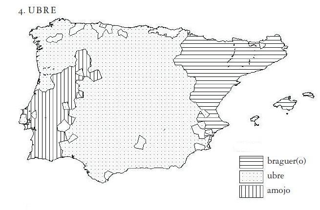 mapa ubre